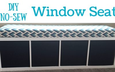 DIY No-Sew Window Seat