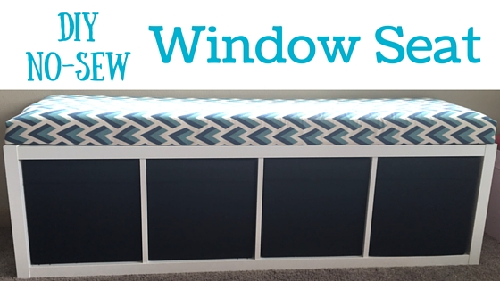 DIY No-Sew Window Seat
