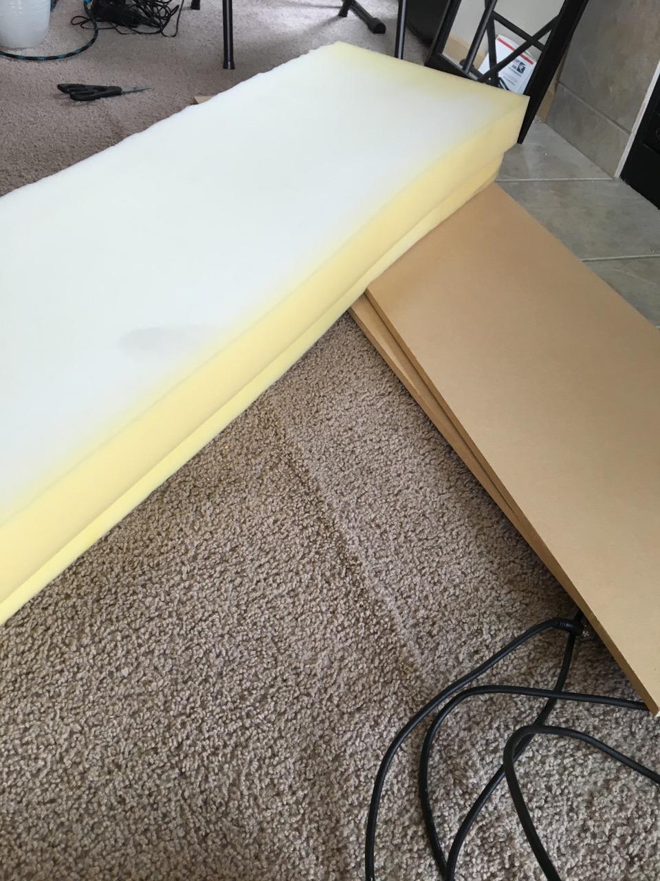 DIY No Sew Window Seat